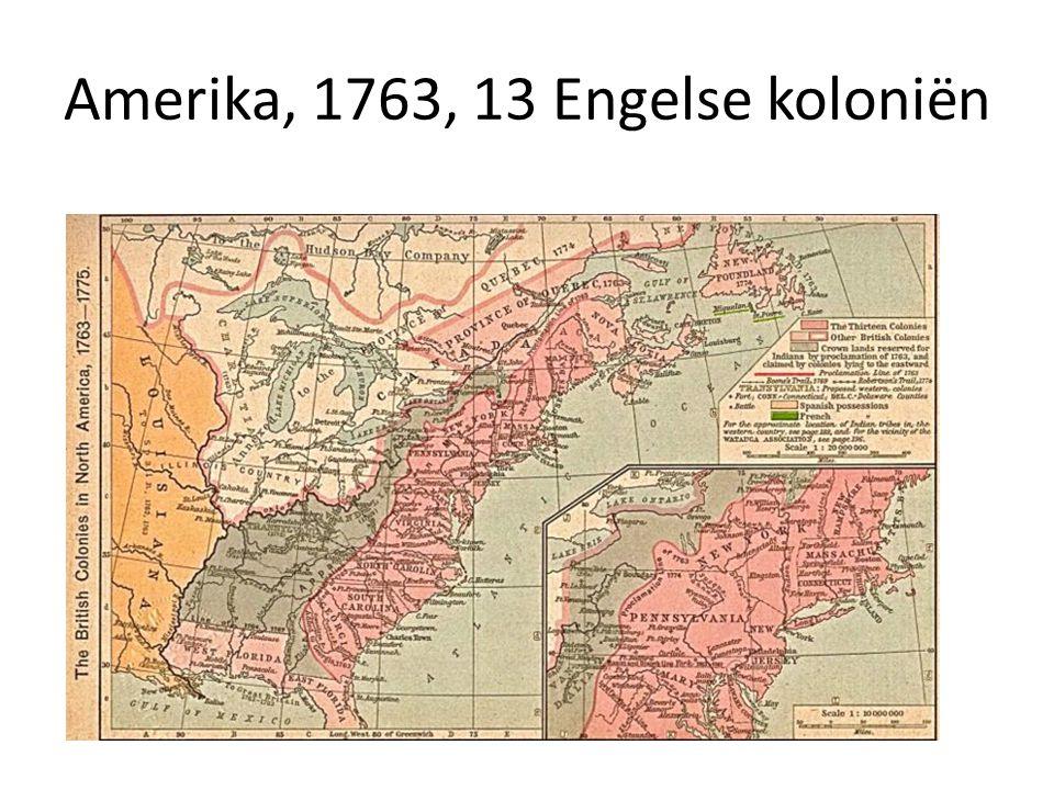Amerika, 1763, 13 Engelse koloniën