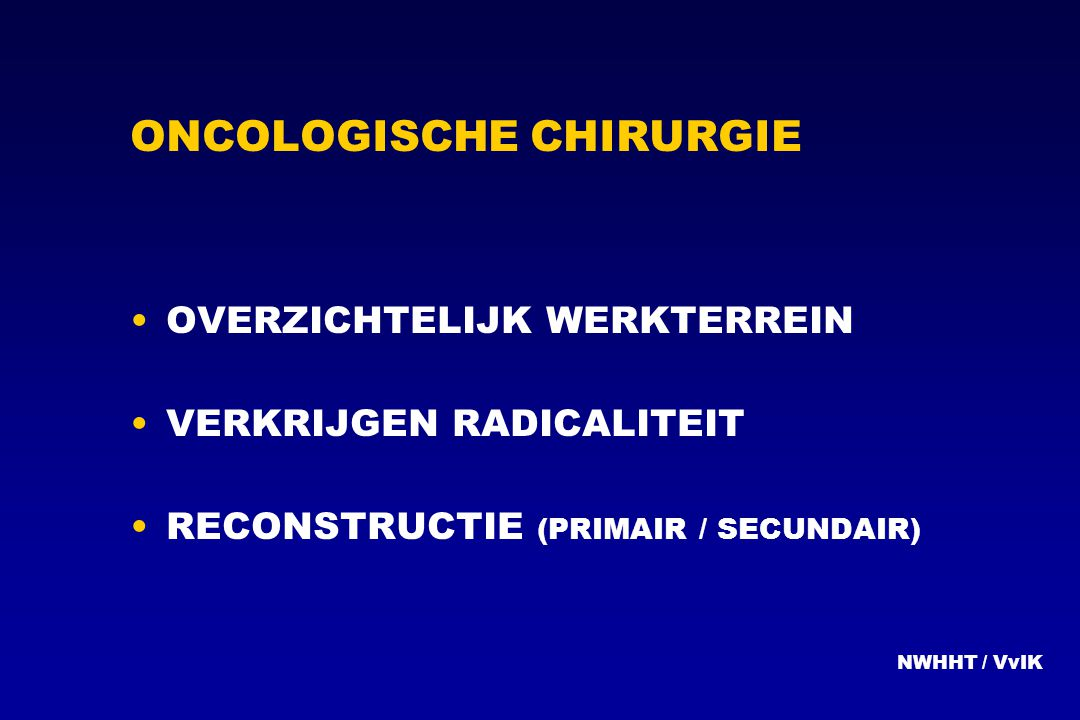 ONCOLOGISCHE CHIRURGIE