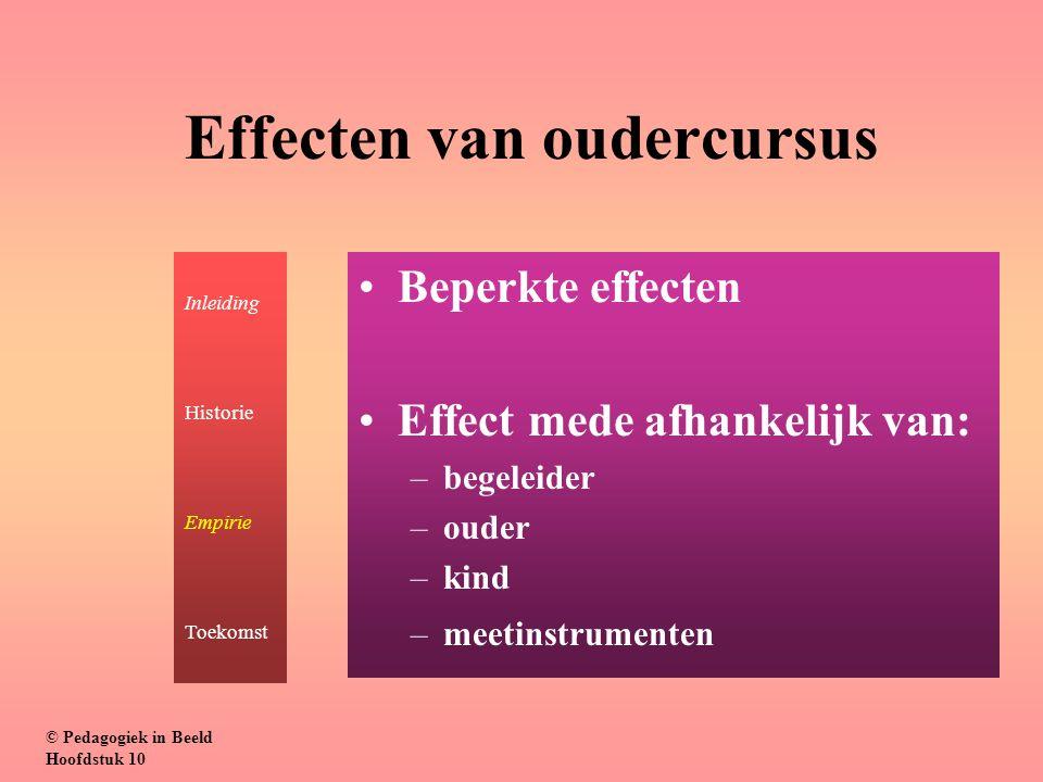 Effecten van oudercursus