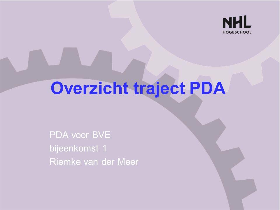 PDA voor BVE bijeenkomst 1 Riemke van der Meer