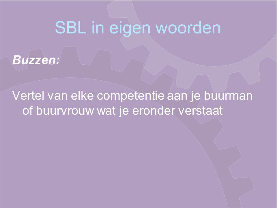 SBL in eigen woorden Buzzen: