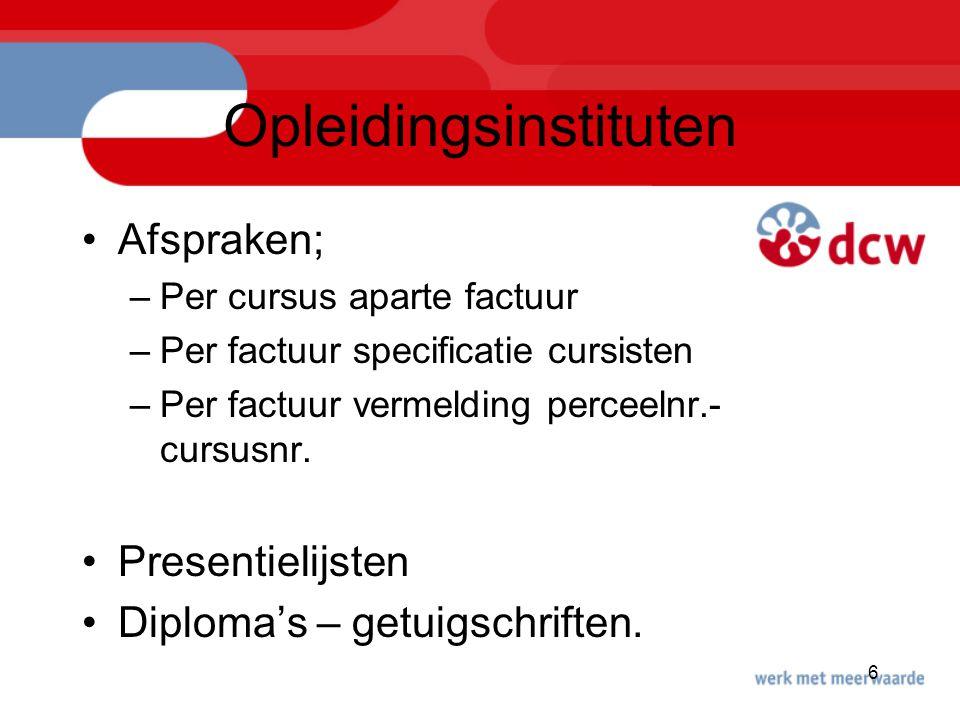 Opleidingsinstituten