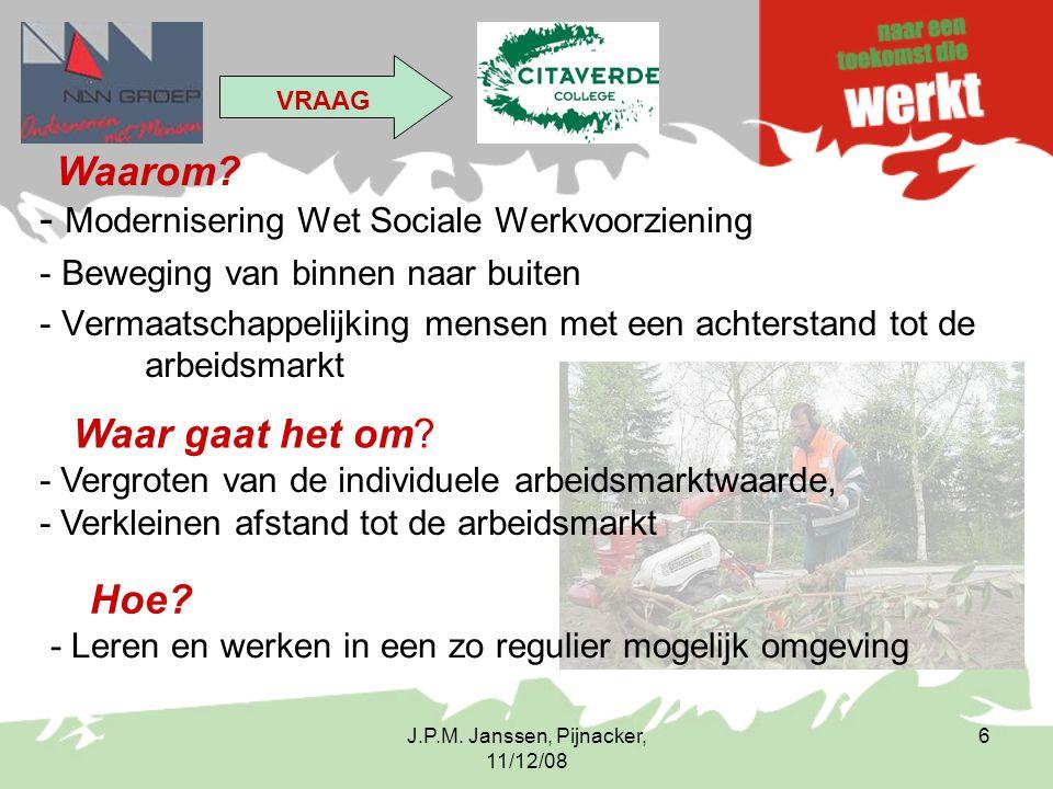 Modernisering Wet Sociale Werkvoorziening