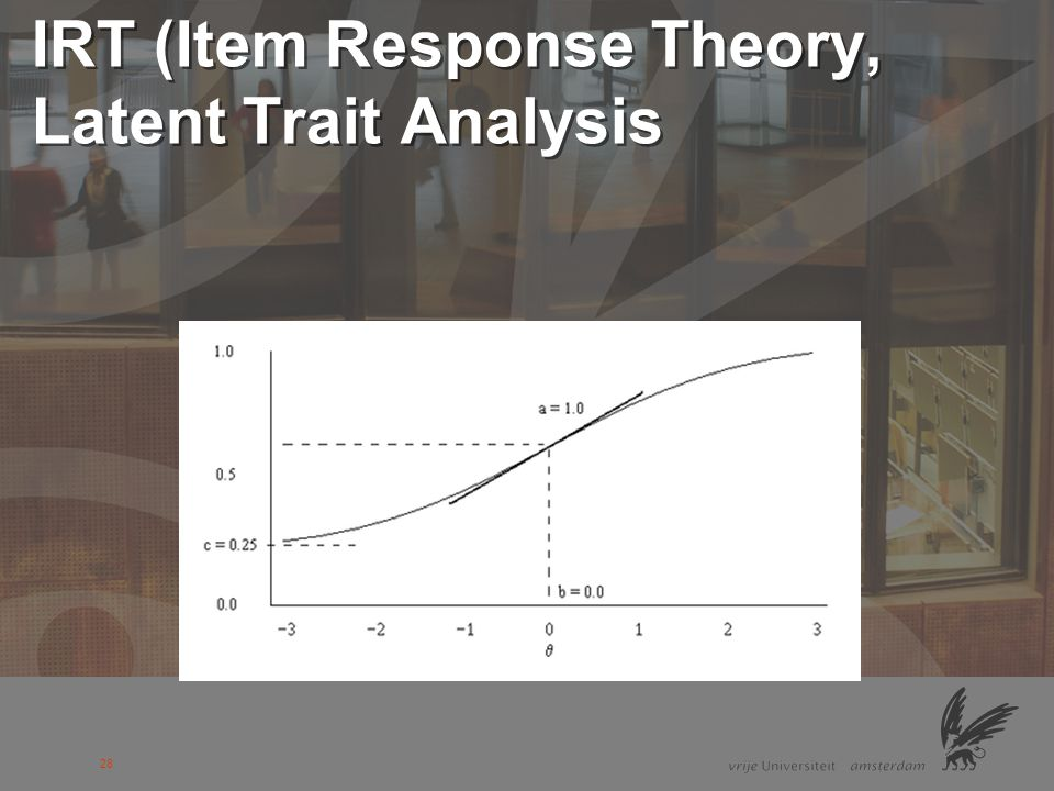 IRT (Item Response Theory, Latent Trait Analysis
