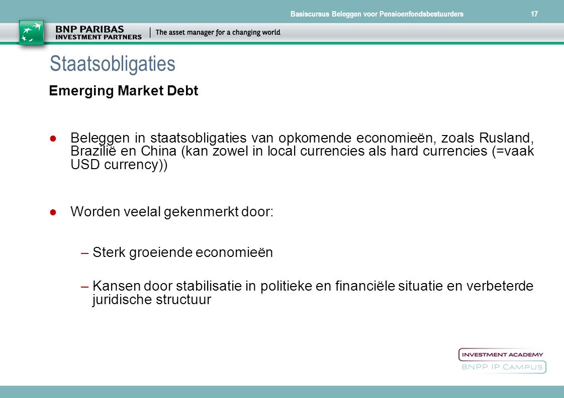 Staatsobligaties Emerging Market Debt
