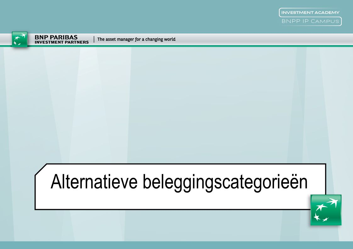 Alternatieve beleggingscategorieën