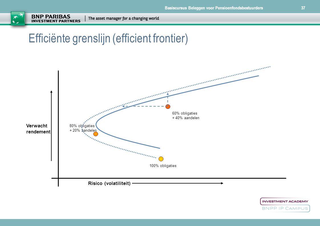 Efficiënte grenslijn (efficient frontier)