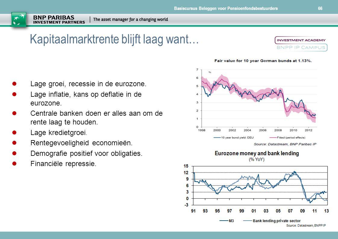 Kapitaalmarktrente blijft laag want…