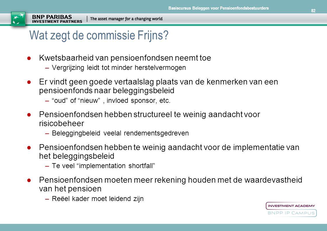 Wat zegt de commissie Frijns