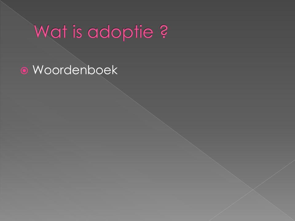Wat is adoptie Woordenboek