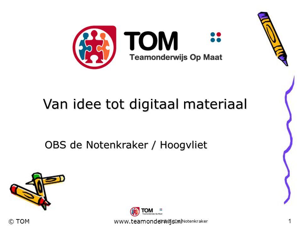 Van idee tot digitaal materiaal