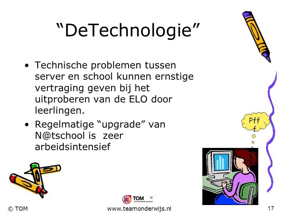 DeTechnologie Technische problemen tussen server en school kunnen ernstige vertraging geven bij het uitproberen van de ELO door leerlingen.
