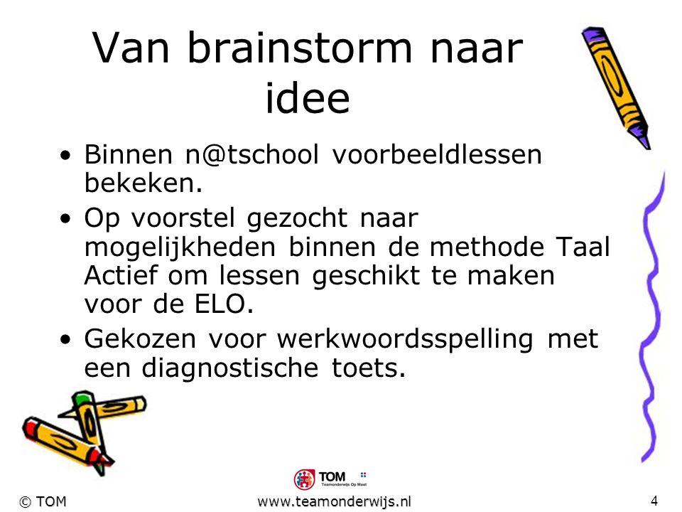 Van brainstorm naar idee