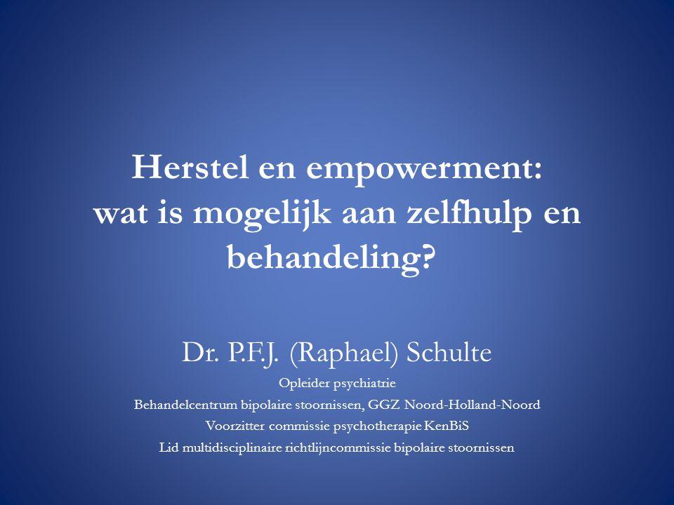 Herstel en empowerment: wat is mogelijk aan zelfhulp en behandeling