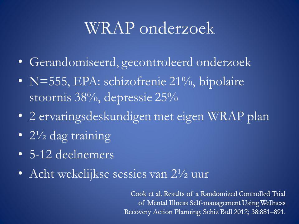 WRAP onderzoek Gerandomiseerd, gecontroleerd onderzoek