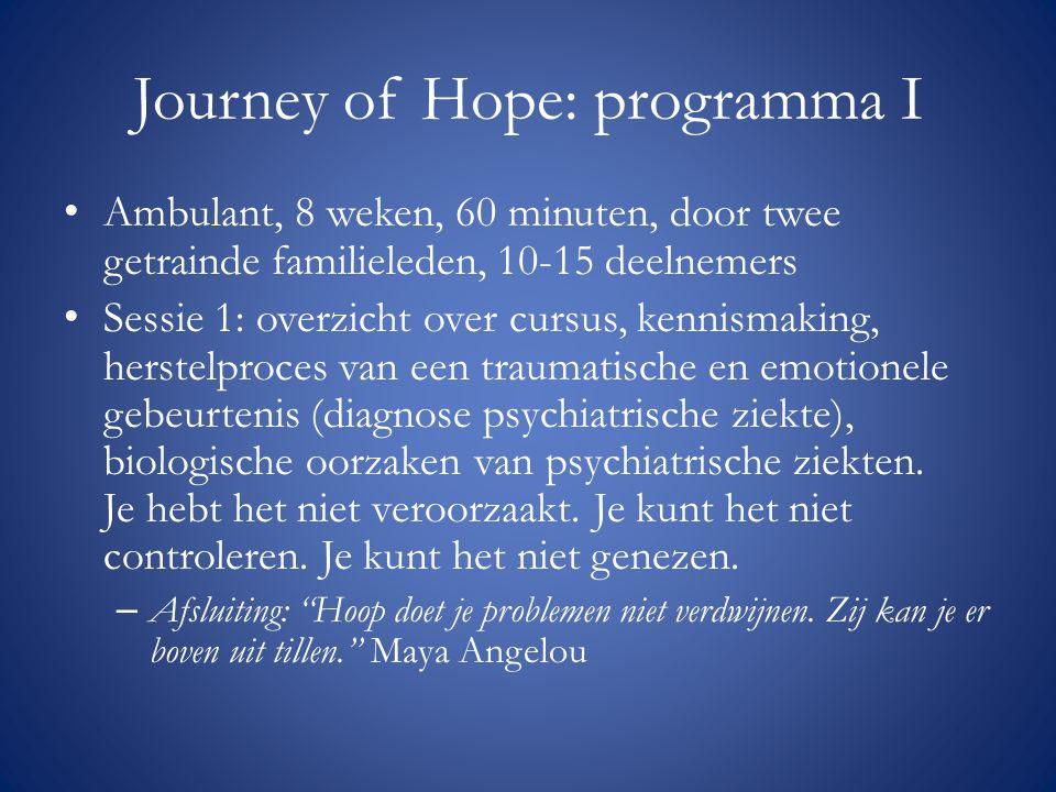 Journey of Hope: programma I
