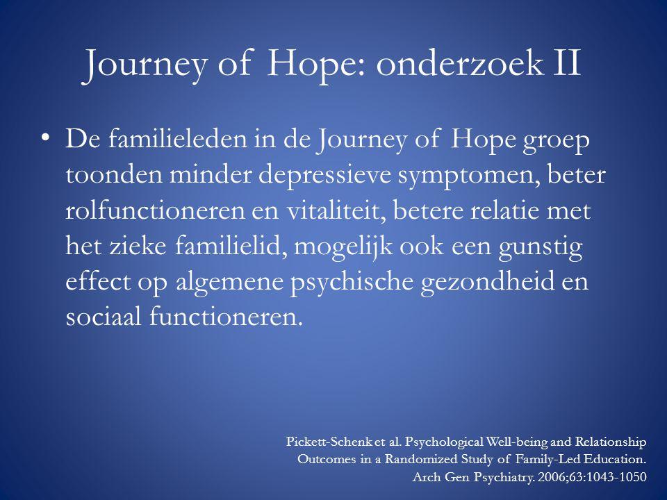 Journey of Hope: onderzoek II