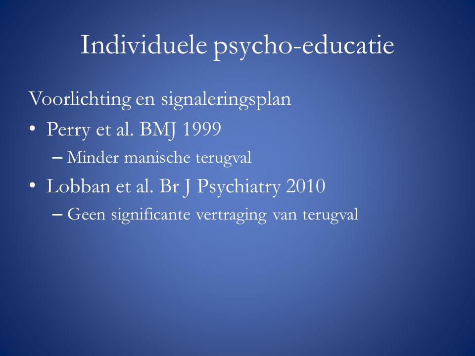 Individuele psycho-educatie