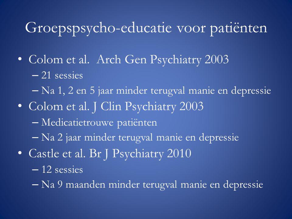Groepspsycho-educatie voor patiënten
