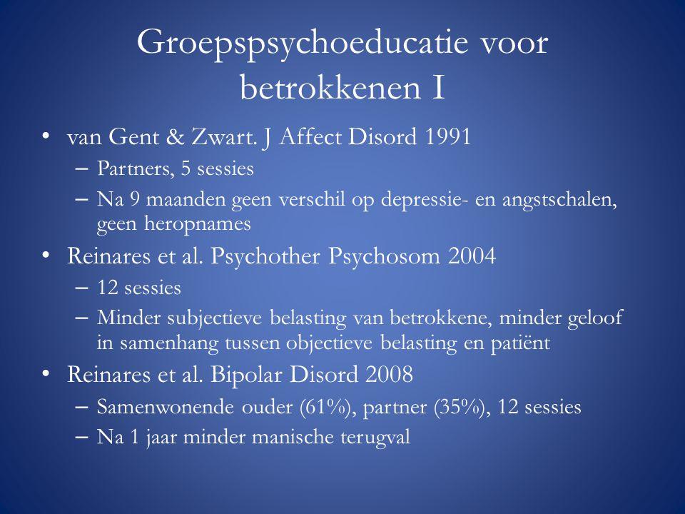 Groepspsychoeducatie voor betrokkenen I