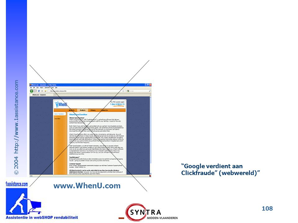 Google verdient aan Clickfraude (webwereld) www.WhenU.com