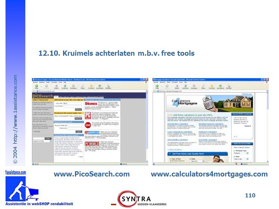 12.10. Kruimels achterlaten m.b.v. free tools
