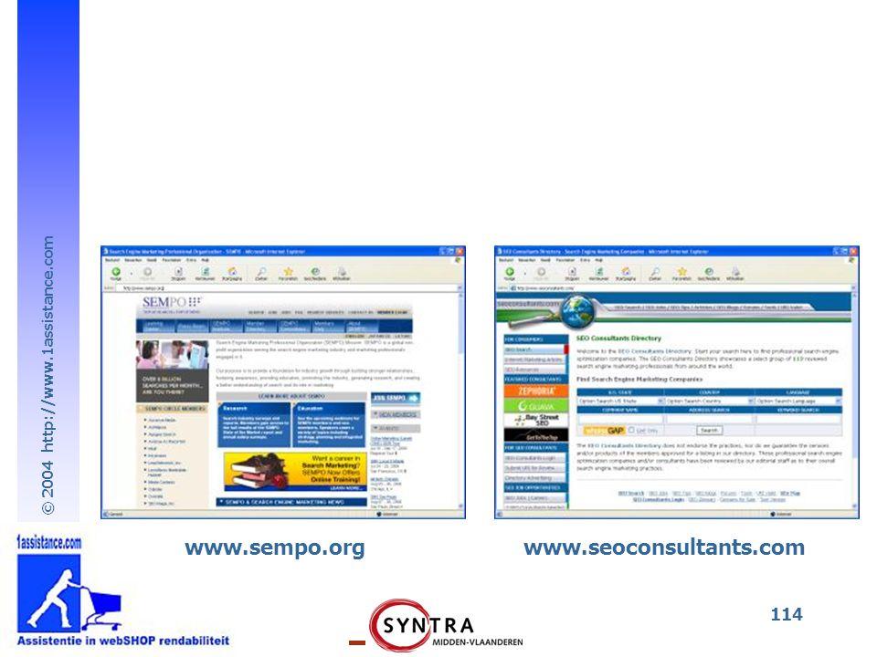 www.sempo.org www.seoconsultants.com