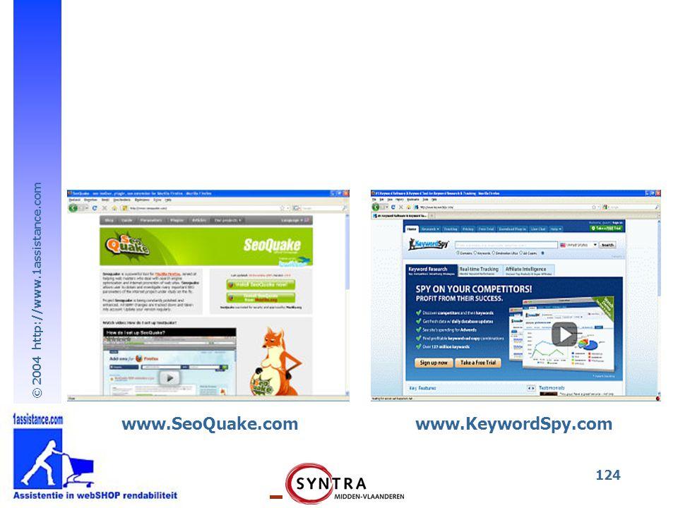 www.SeoQuake.com www.KeywordSpy.com