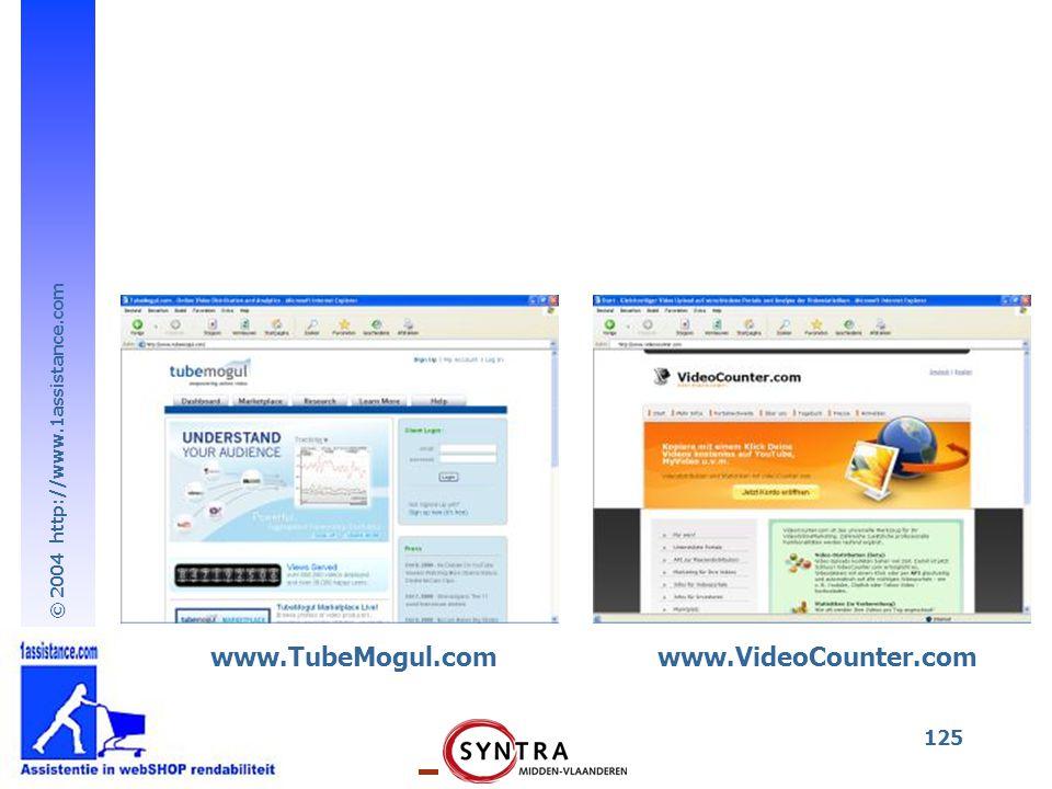 www.TubeMogul.com www.VideoCounter.com