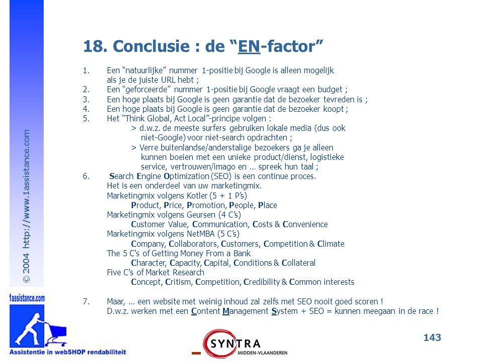 18. Conclusie : de EN-factor