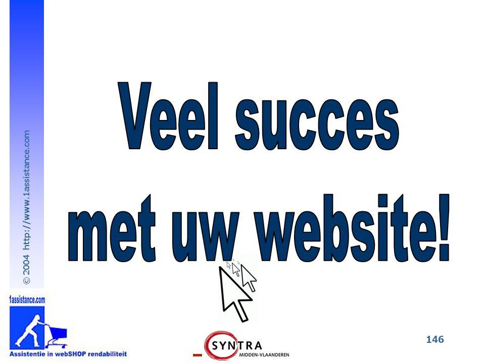 Veel succes met uw website!