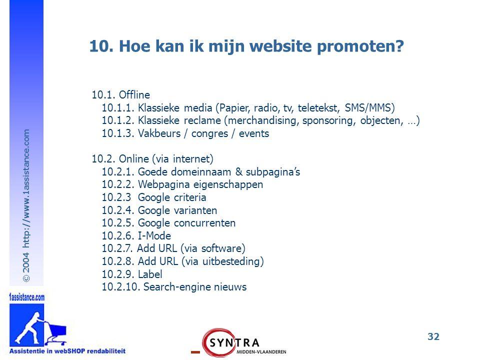 10. Hoe kan ik mijn website promoten