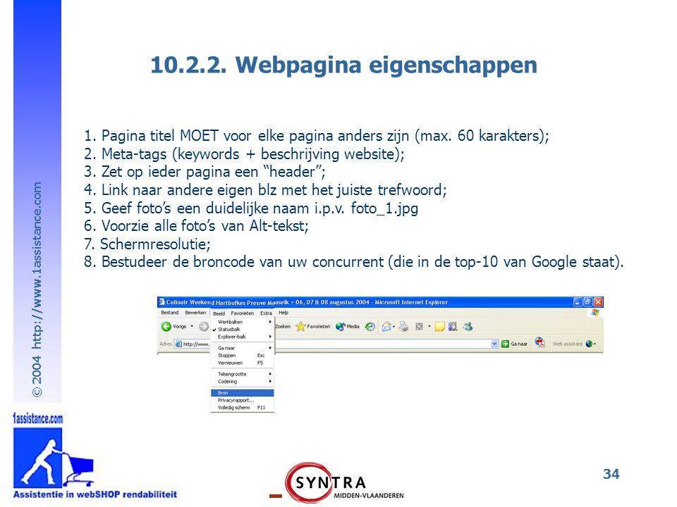 10.2.2. Webpagina eigenschappen