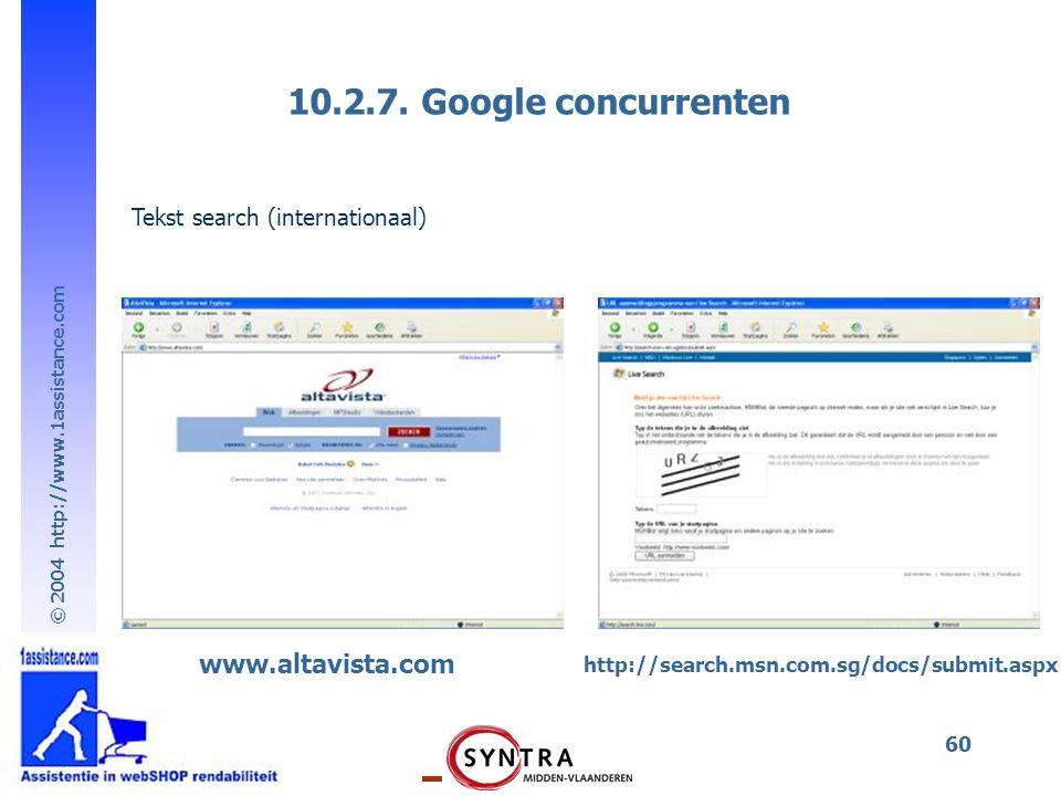 10.2.7. Google concurrenten www.altavista.com