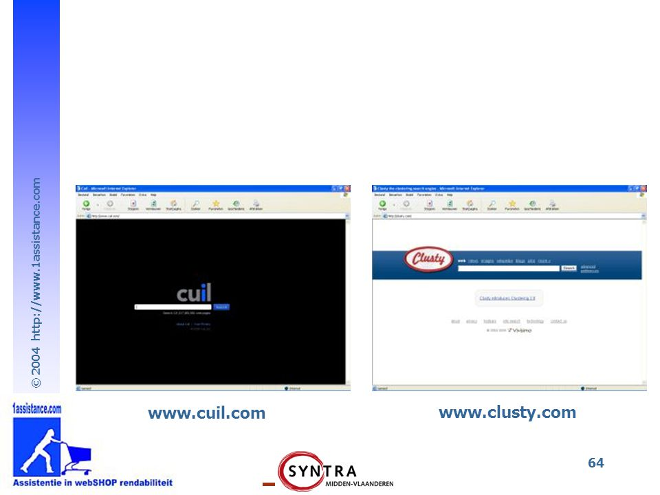 www.cuil.com www.clusty.com