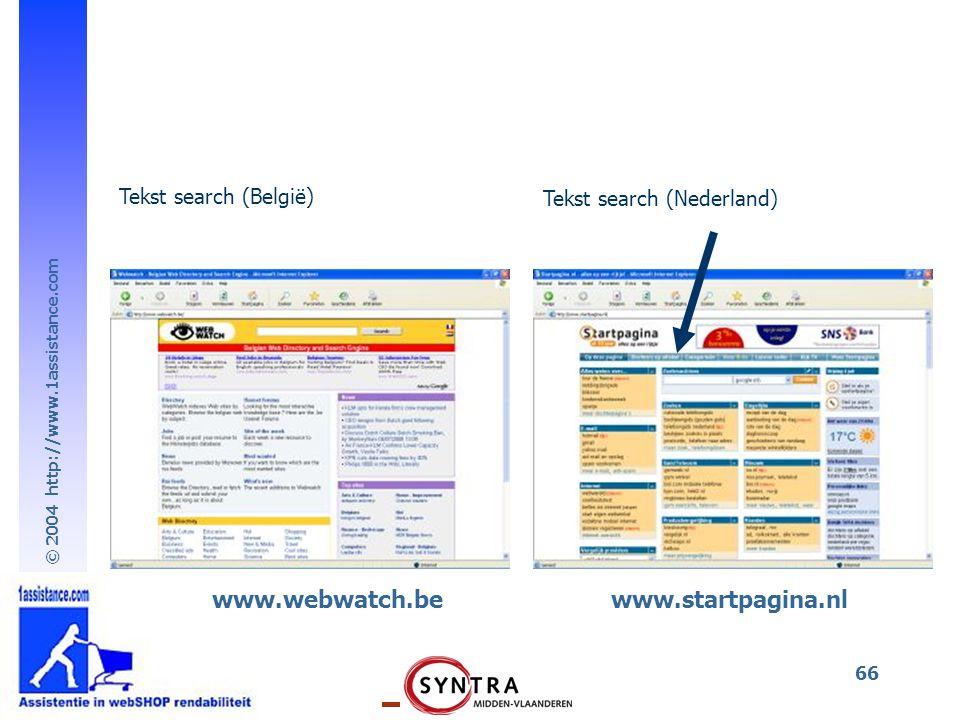 www.webwatch.be www.startpagina.nl Tekst search (België)