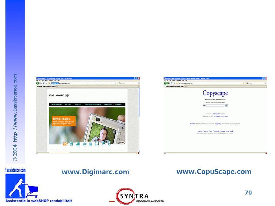 www.Digimarc.com www.CopuScape.com