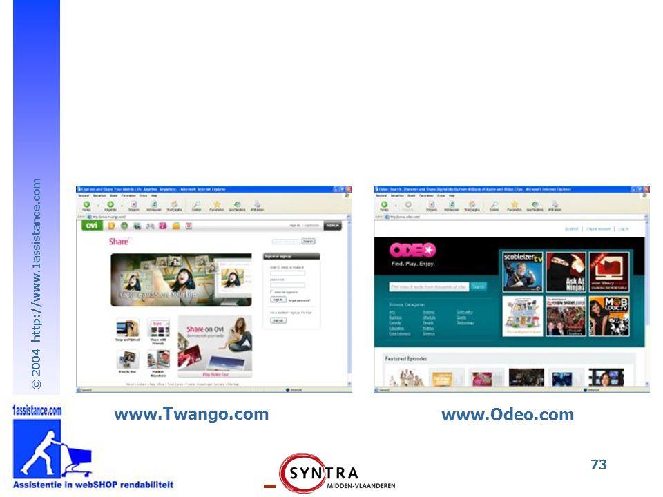 www.Twango.com www.Odeo.com