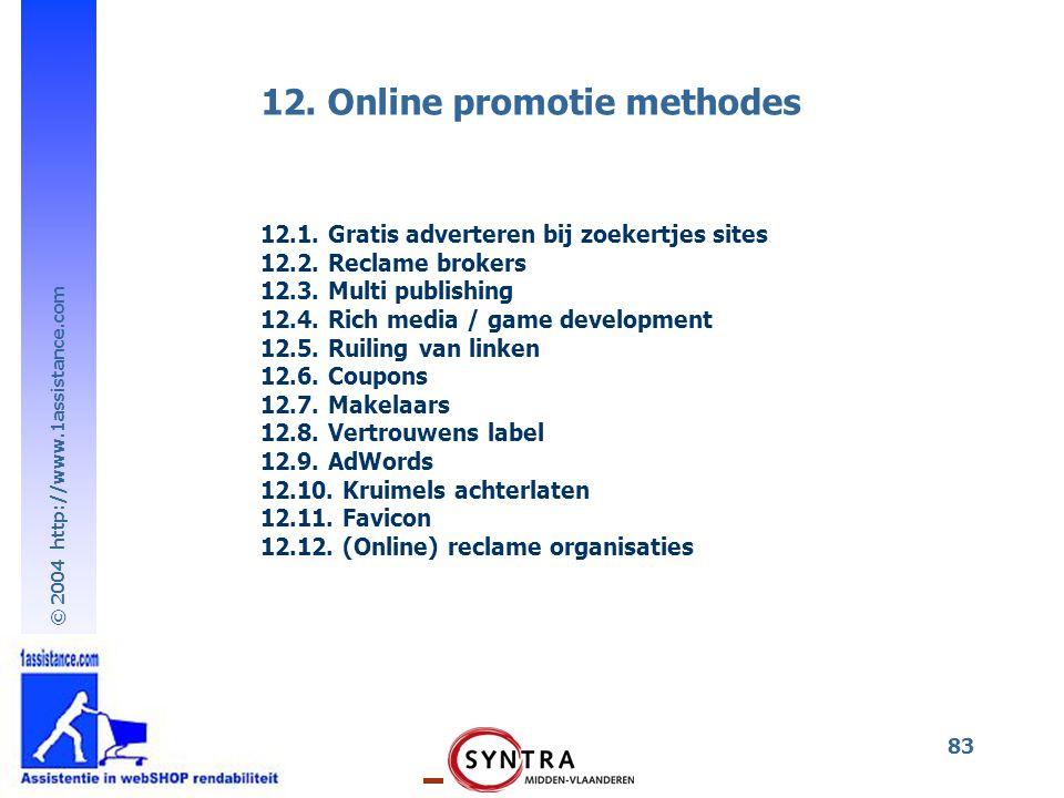 12. Online promotie methodes