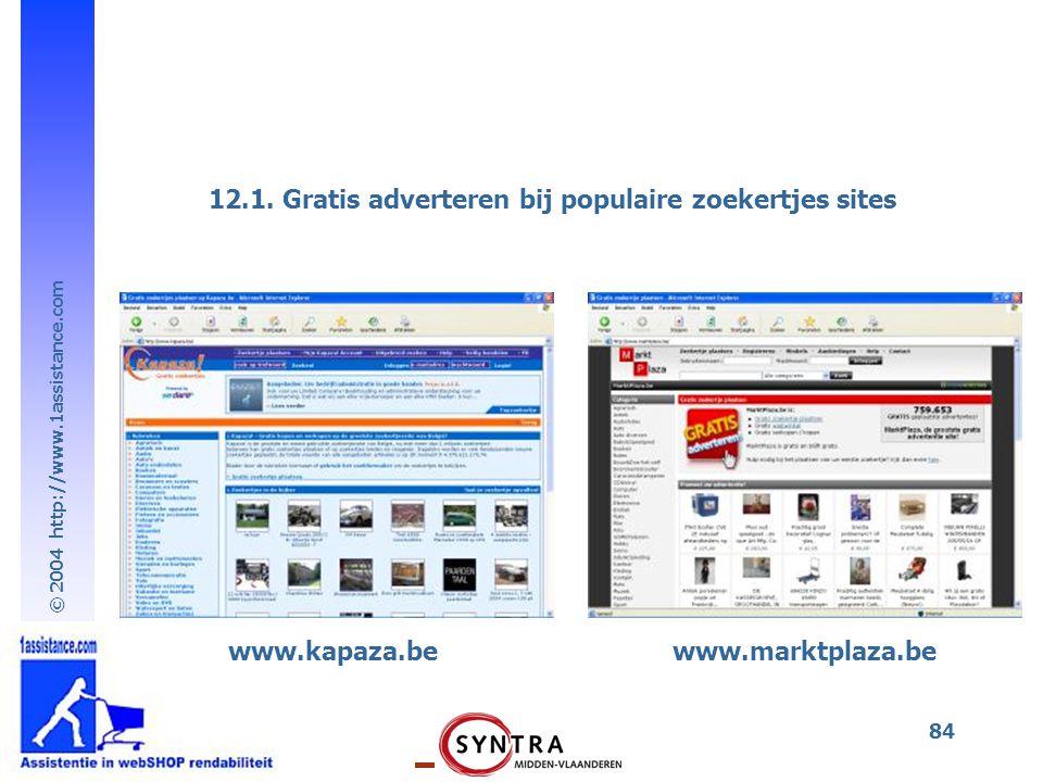 12.1. Gratis adverteren bij populaire zoekertjes sites
