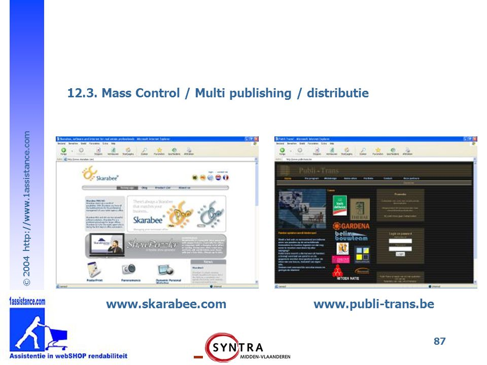 12.3. Mass Control / Multi publishing / distributie