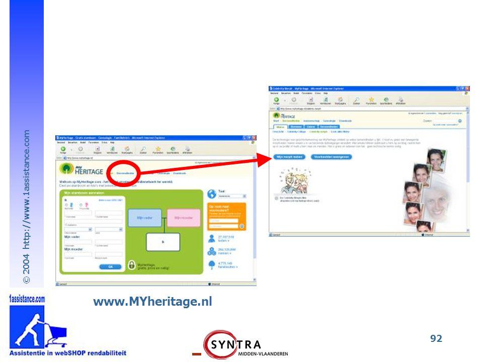 www.MYheritage.nl