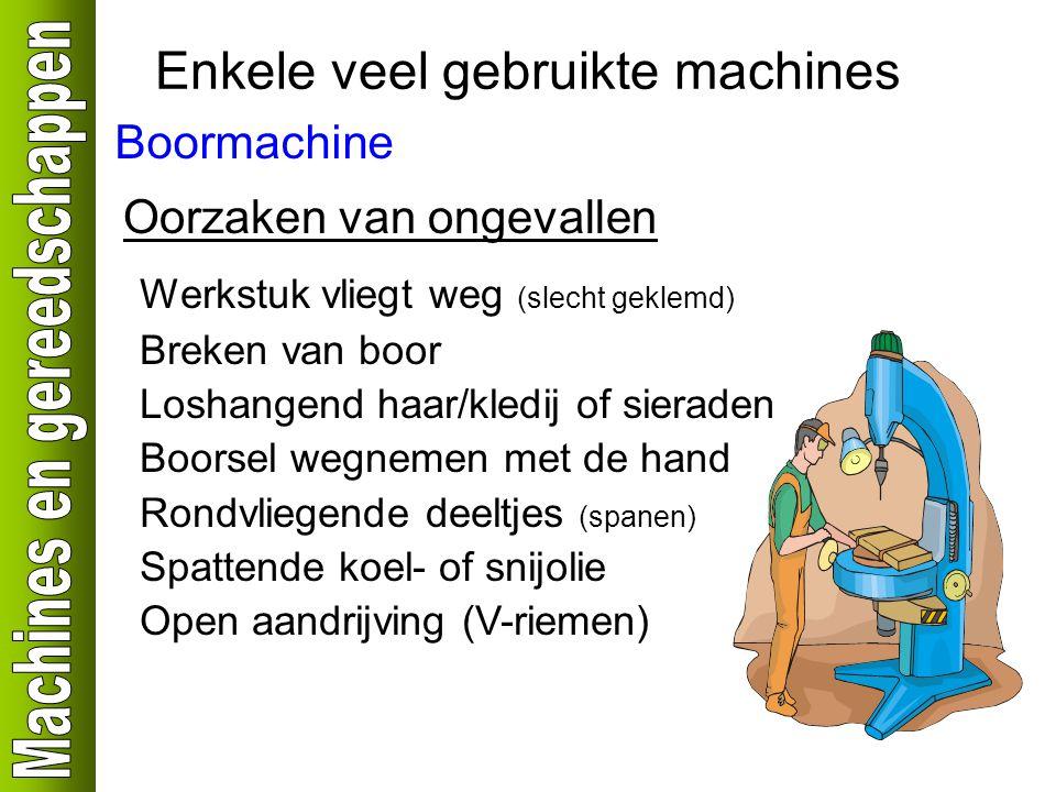 Enkele veel gebruikte machines