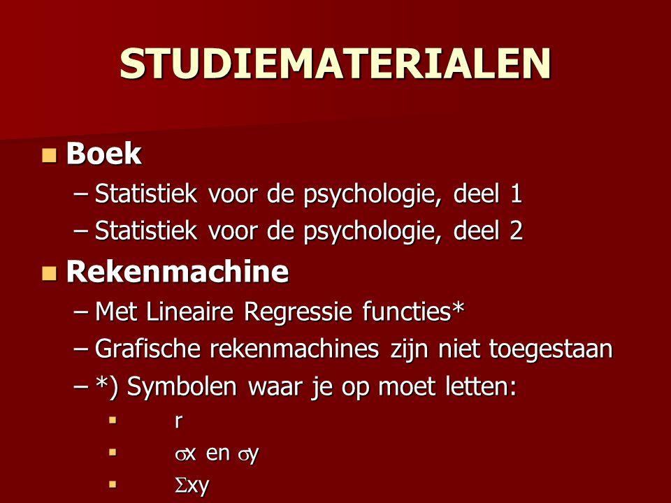 STUDIEMATERIALEN Boek Rekenmachine