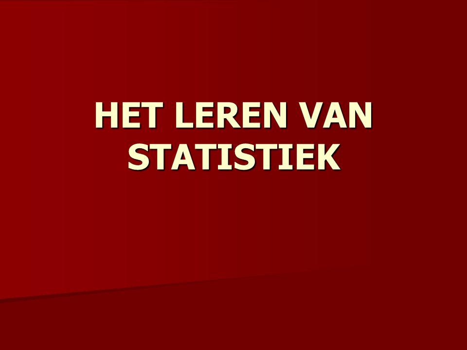 HET LEREN VAN STATISTIEK