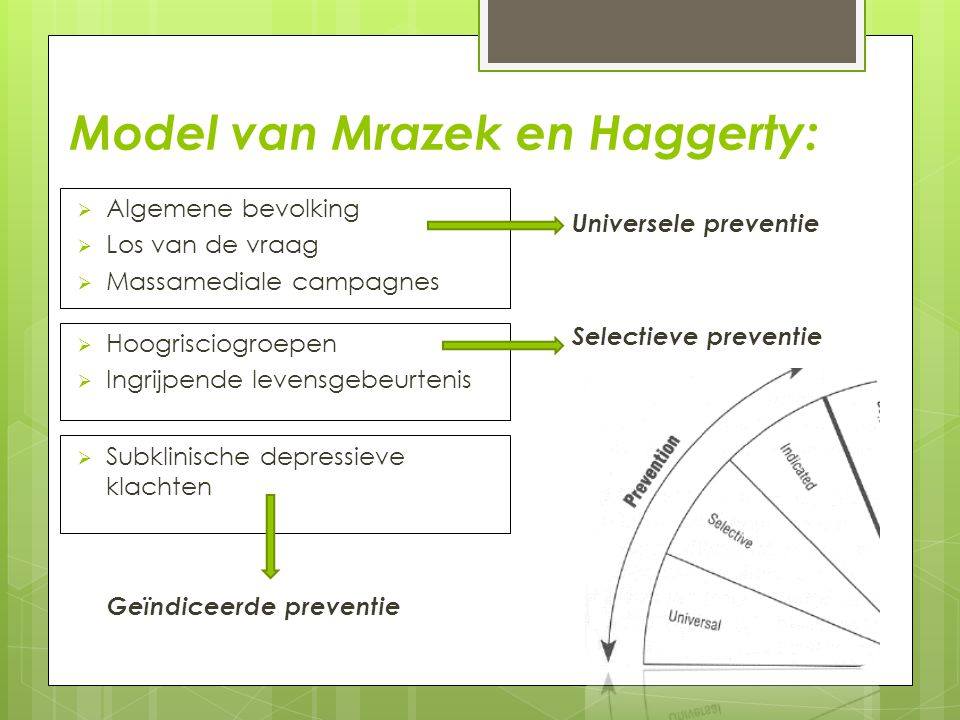 Model van Mrazek en Haggerty: