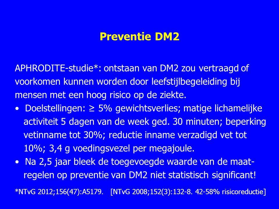 Preventie DM2 APHRODITE-studie*: ontstaan van DM2 zou vertraagd of