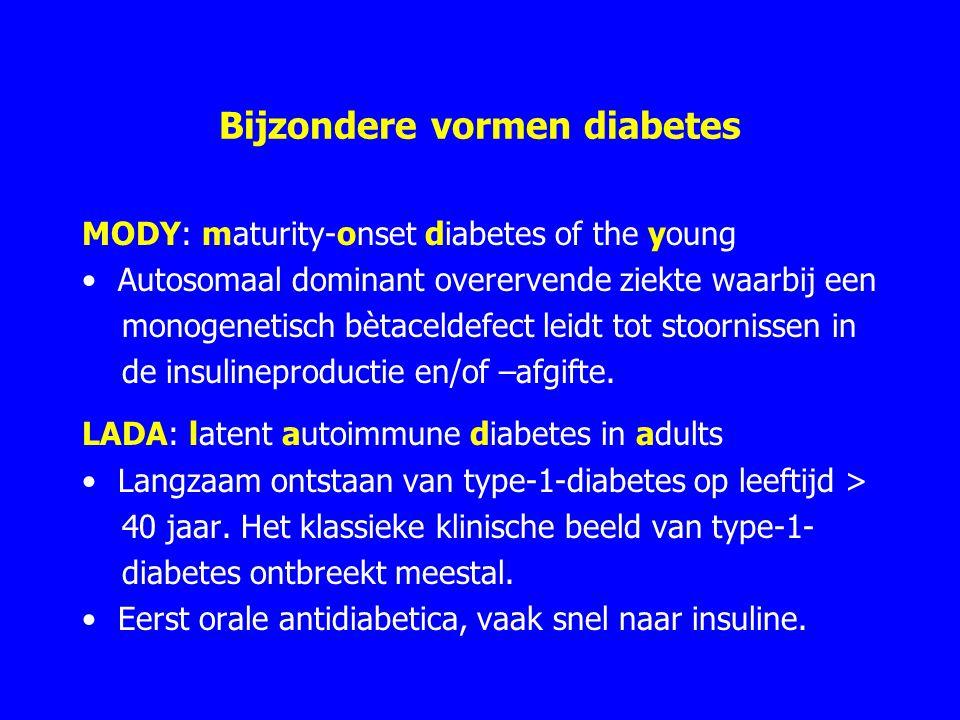 Bijzondere vormen diabetes