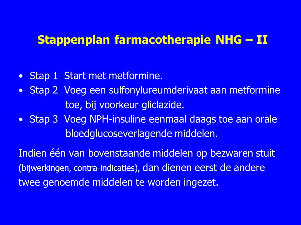 Stappenplan farmacotherapie NHG – II