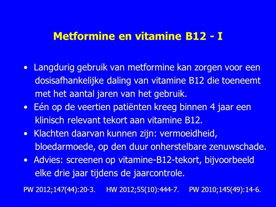 Metformine en vitamine B12 - I